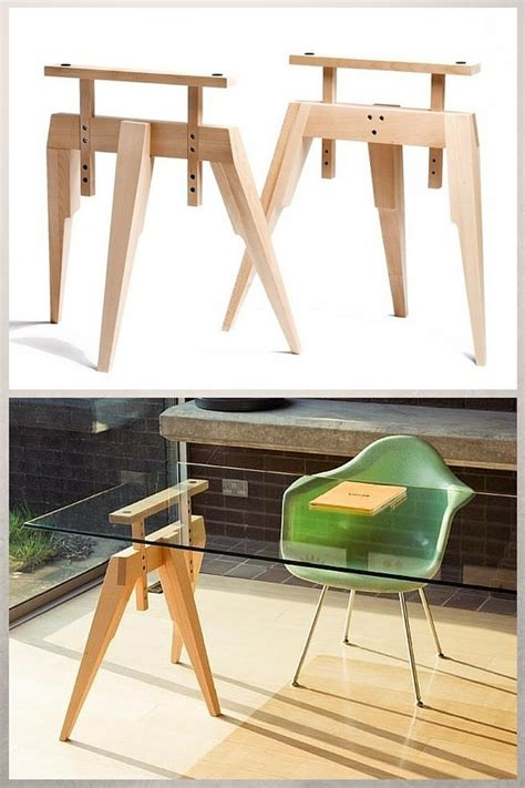 plateau en verre pour bureau tréteaux design 21 idées pour la table ou le bureau