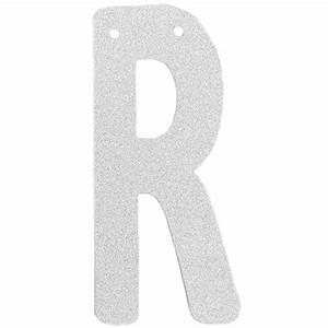 glitter letter banner garland 6inch silver letter r With silver letter banner