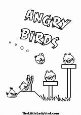 Angry Birds Coloring Bird Pigs Slingshot Useful Colouring Yellow Sheets sketch template