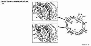 I Need A Diagram Of The Parking Brake Shoes Setup On A 1994 Mercedez