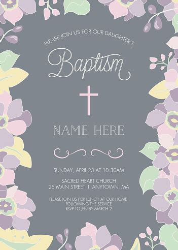 Baptism Christening First Holy Communion Invitation