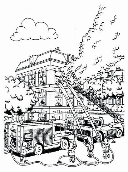 Coloring Fire Pages Fireman Sam Printable Colouring
