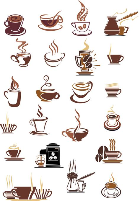 coffee cup icons vector pack ai svg eps vector