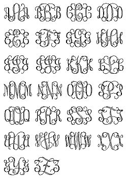 interlocking monogram  monogram fonts monogram fonts needlepoint monogram