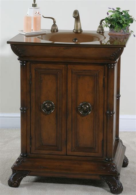 accents petite bathroom vanity  inches sink features