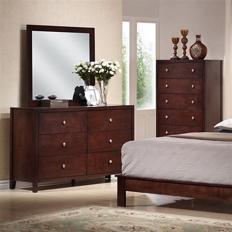Montana 5piece Queen Bedroom Set  Bookcase Bed, Mahogany