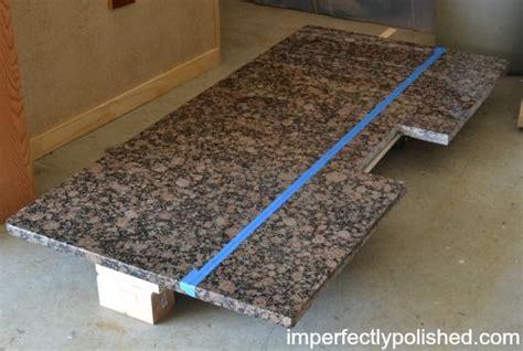 cutting granite countertop in place cut and install granite countertops diy