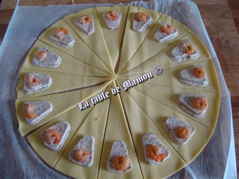 mini croissants crevettes ou anchois la table de mamou