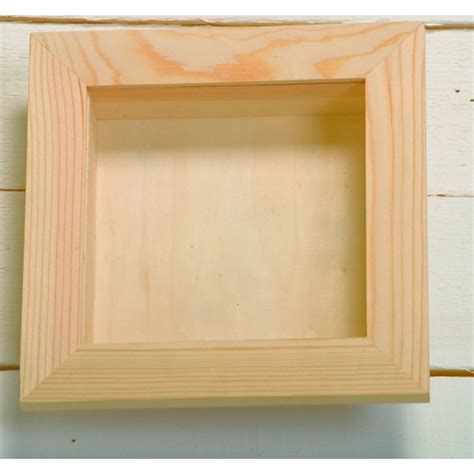 large square wooden 3 d deep shadow box frame with