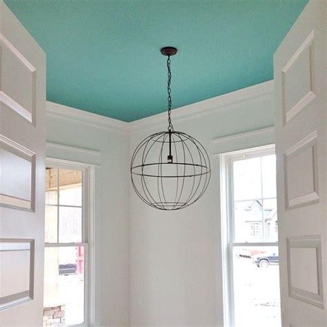 bright aqua blue ceiling benjamin moore skydive paint