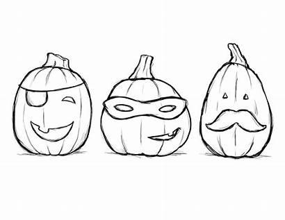 Coloring Pumpkins Five Pages Printable Getcolorings