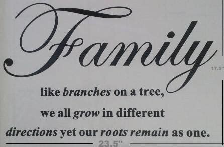 Family Like Branches On A Tree Wall Sticker Vinyl Wall