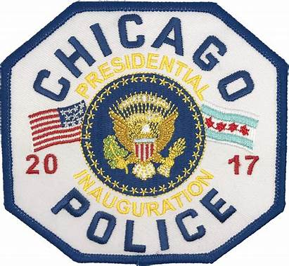 Police Patch Trump Chicago President Inauguration Presidential