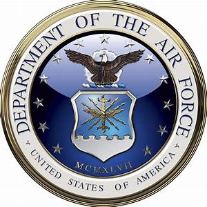 Department Of The Air Force Emblem All Metal Sign  14