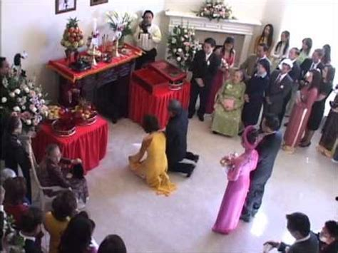 vietnamese wedding tea ceremony  explanations youtube