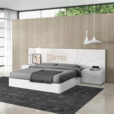 tete de lit design lit adulte design t 234 te d 233 cor et cadre de lit chevets laque