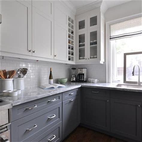 white upper cabinets grey lower white upper cabinets design ideas 262 | m 764a8223133c
