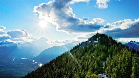 Wallpaper Sulphur Mountain, 4k, Hd Wallpaper, Canada