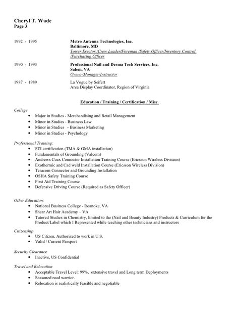 cheryl wade resume w references revised 10 11 09 compat word v