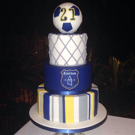 birthday cake  mad everton football club supporter