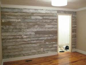 unexpected uses for wood plank flooring With cheap wood accent wall