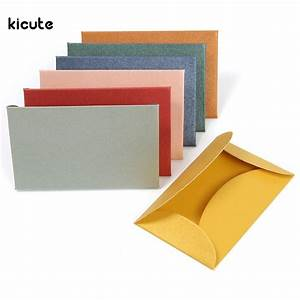 50pcs set vintage colorful small colored pearl blank mini With blank wedding invitation paper and envelopes