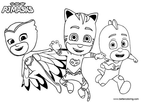catboy  pj masks coloring pages  printable