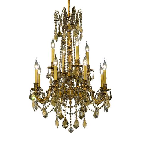 Gold Chandelier by Y Decor 12 Light Gold Chandelier Lz3349 12 The Home Depot