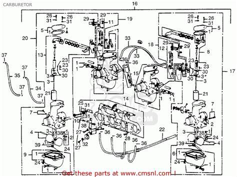 honda cb550f sport 550 four 1976 usa carburetor