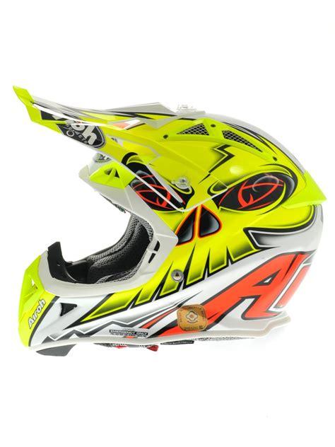 airoh motocross helmet airoh yellow white 2014 aviator 2 1 carbon kev lar eye mx