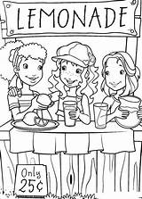 Coloring Lemonade Stand Pages Popular sketch template