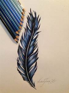 Feather design, prismacolor pencils | One of my more ...