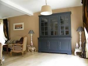 rajeunir nos meubles style louis philippe en merisier With meuble de salle a manger avec cuisine laqué gris anthracite