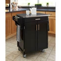 walmart kitchen islands home styles kitchen cart black stainless steel top walmart
