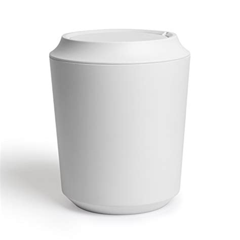 bathroom wastebasket with lid umbra bathroom waste can with lid white