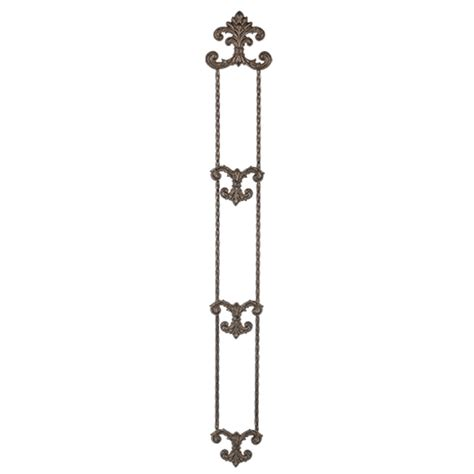 gg collection hanging triple plate holder iron accents