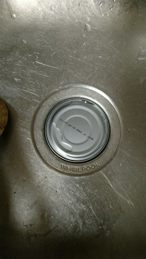 x post from r mildlyinteresting tuna can stuck in the sink drain perfectfit