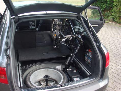 fahrrad im auto transportieren bild 5 fahrrad ohne fahrradhalter im auto transportieren gehts audi a6 4f 202955130