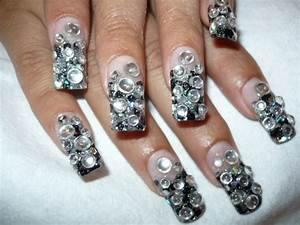 with stones - Nail Art Archive - Style - NAILS Magazine
