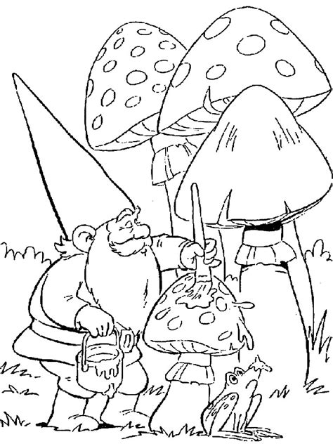 gnome coloring pages    print