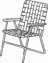 Chair Coloring Lawn Drawing Pages Folding Beach Patio Clipart Clip Chairs Furniture Line Lawnchair Outdoor Armchair Cliparts Printable Clipartmag Library sketch template
