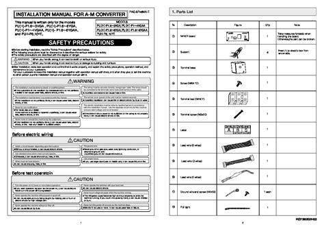 Mitsubishi Air Conditioner Installation by Mitsubishi Rg79b202g03 Air Conditioner Installation Manual