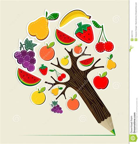 cuisine concept healthy food concept pencil tree stock photos image