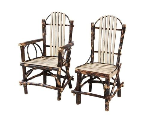 rocking chair amish rustic cabin hickory chair with slats