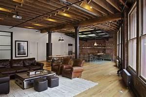 Wohnzimmer Industrial Style : jane kim design industrial wohnzimmer new york von jane kim design ~ Whattoseeinmadrid.com Haus und Dekorationen