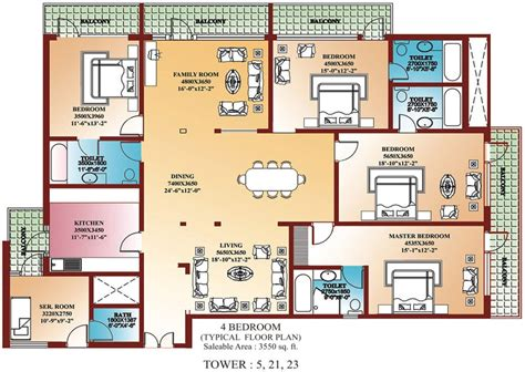 Home Design 4 Rooms : Awesome 4 Bedroom House Plans In India