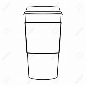 Paper coffee cup silhouette clipart
