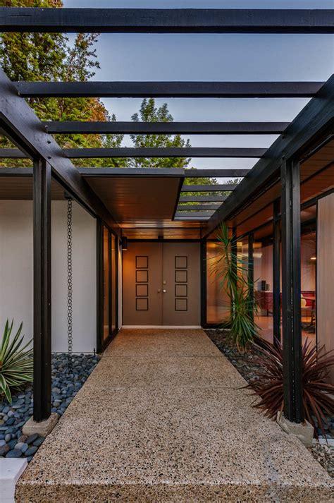staggering mid century modern entrance designs