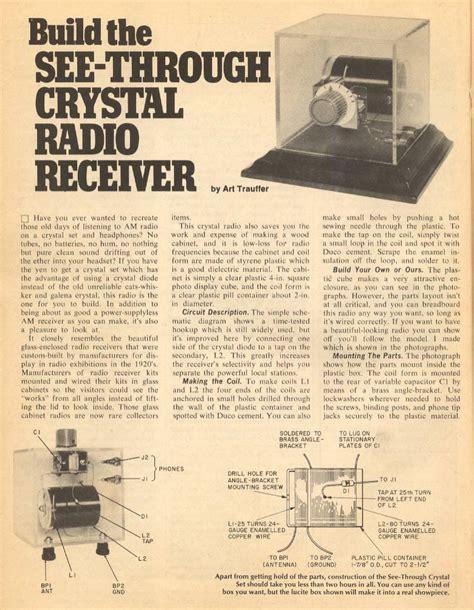 First Crystal Radio Questions The Radioboard Forums