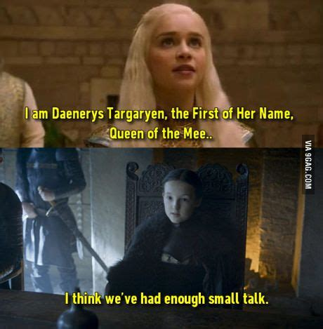 Lyanna Mormont Memes - 1000 ideas about lyanna mormont on pinterest game of thrones game of and game of thrones funny